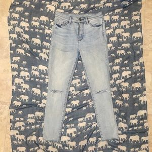 Urban Outfitters Jeans - Urban Outfitters BDG Twig Light Wash Jeans Slashed
